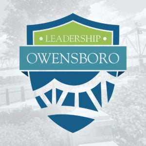 Logo design for Leadership Owensboro, a joint program of the Greater Owensboro Chamber of Commerce and Economic Development Corporation