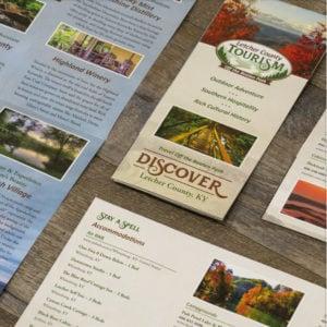 Brochure design for Letcher County Tourism